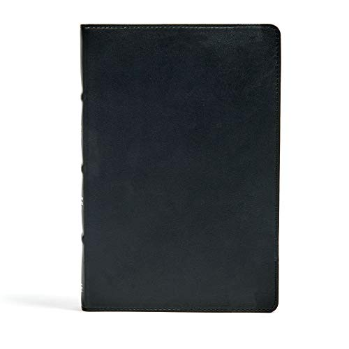 9781433648441: CSB Large Print Ultrathin Reference Bible, Black Premium Leather, Black Letter Edition, Indexed