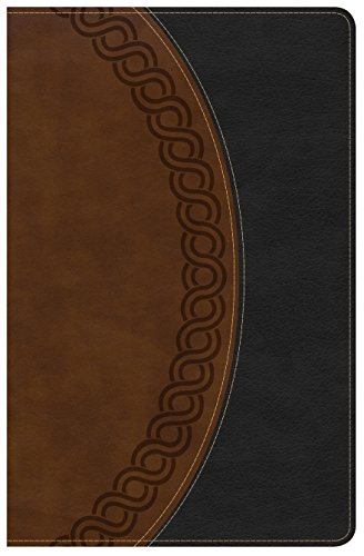 9781433649691: NKJV Large Print Personal Size Reference Bible, Black/Brown Deluxe LeatherTouch
