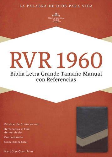 Biblia Letra Grande Tamano Manual Con Referencias-Rvr 1960 (Imitation Leather)