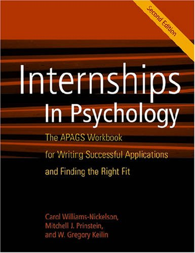 Internships in Psychology: The APAGS Workbook for