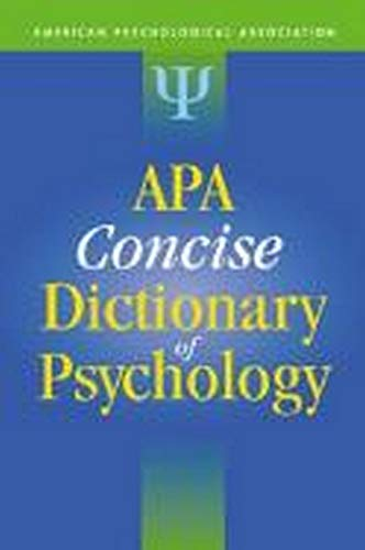 9781433803918: Apa Concise Dictionary of Psychology