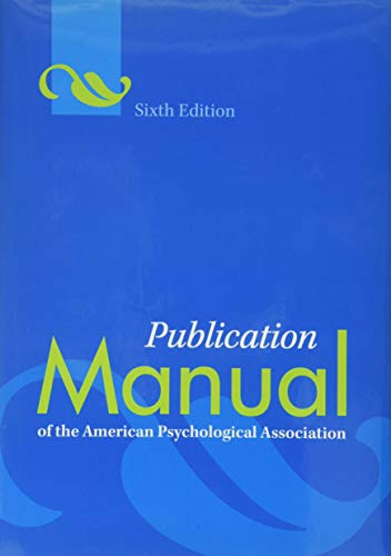 9781433805592: Publication Manual of the American Psychological Association