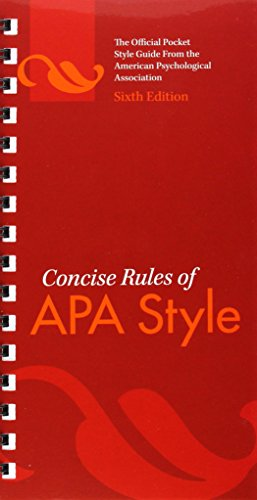 9781433805608: Concise Rules of APA Style