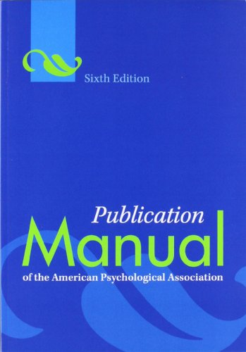 9781433805615: Publication Manual of the American Psychological Association, 6th Edition