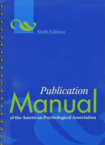 9781433805622: Publication Manual of the American Psychological Association