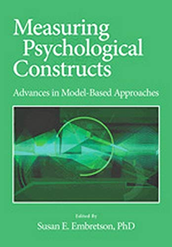 9781433806919: Measuring Psychological Constructs: Advances in Model-Based Approaches