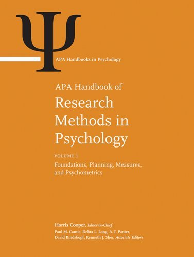 9781433810039: APA Handbook of Research Methods in Psychology (Apa Handbooks in Psychology)