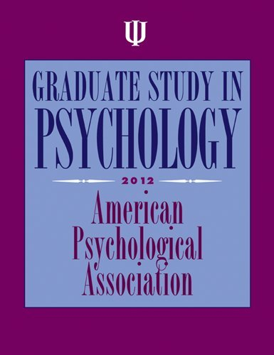 9781433810671: Graduate Study in Psychology, 2012