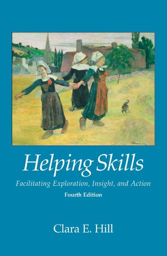 Helping Skills 9781433816789 This fourth edition of Clara Hill s popular textbook updates her comprehensive exploration of basic helping skills for undergraduate and first-year graduate students. Hill s three-stage model of helping clients involves exploration, insight, and action. The exploration stage helps clients explore their thoughts and feelings. The insight stage helps clients understand the reasons for their thoughts and feelings. The action stage helps clients make desired changes in their lives. Authoritative but highly accessible, the book describes the goals and theoretical foundations of the three stages, how helpers can learn and practice the skills used in each stage, general principles for ethical practice, and important cultural issues. Hill also challenges students to think about and discuss the process of becoming helpers and their reasons for doing so. New material in this edition includes Chapters on self-awareness and cultural awareness, a glossary, and aditional methods for challenging clients. A research summary at the end of every chapter highlighting a relevant empirical study. The companion website has been updated to offer students and instructors helpful resources. Two companion DVDs illustrate the three-stage model: Helping Skills in Practice and Dream Work in Practice.