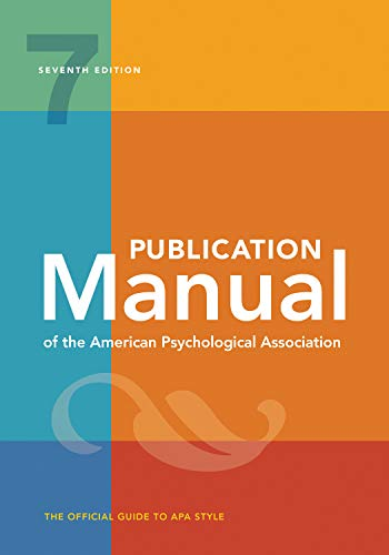 9781433832161: Publication Manual of the American Psychological Association: 7th Edition, 2020 Copyright