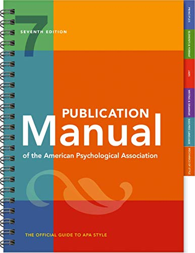 9781433832178: Publication Manual of the American Psychological Association (7th Edition, 2020 Copyright)