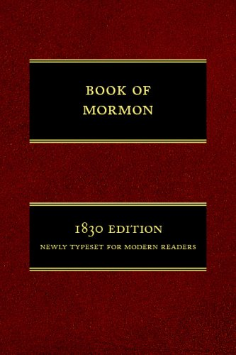 9781434102201: The Book of Mormon: 1830 Edition, Newly Typeset for Modern Readers