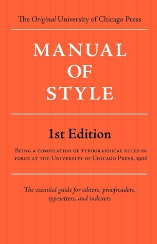 9781434102836: Manual of Style (Chicago 1st Edition)