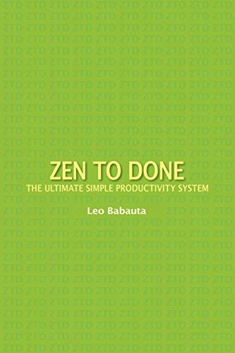 9781434103185: Zen to Done: The Ultimate Simple Productivity System