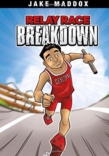 9781434239037: Relay Race Breakdown (Jake Maddox Sports Stories)