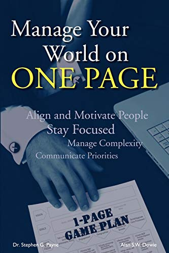 9781434359414: Manage Your World on ONE PAGE