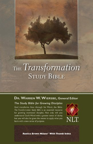The Transformation Study Bible--Rustica Brown Milano w/ Thumb Index (1434764222) by Warren W. Wiersbe