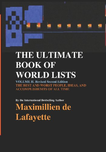 9781434818577: The Ultimate Book Of World List: Lists Of The Best And The Worst Around The Globe