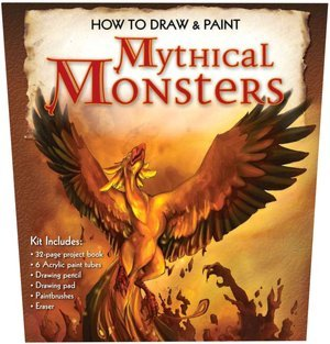 9781435112261: How to Draw & Paint Mythical Monsters Kit