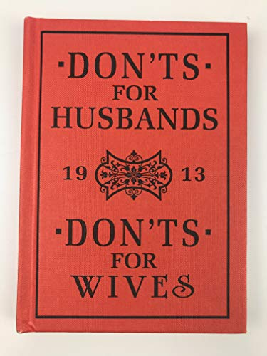 9781435113411: Don'ts for Husbands & Don'ts for Wives