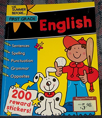9781435134324: English. The Summer Before First Grade Work Book with Stickers.