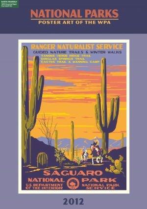 9781435136229: 2012 National Parks, Poster Art of The WPA , Calendar