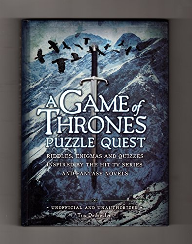 9781435157835: A Game of Thrones Puzzle Quest: Riddles Enigmas & Quizzes Inspired by the Hit TV Series and Fantasy Novels