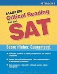 9781435291287: Peterson's New Sat Critical Reading Workbook