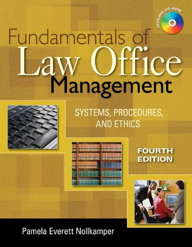 9781435423428: Bundle: Fundamentals of Law Office Management, 4th + WebTutor™ on Blackboard Printed Access Card