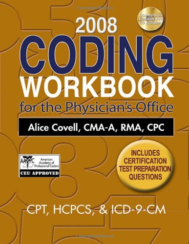 9781435425958: 2008 Coding Workbook for the Physician's Office (Coding Workbook for the Physician's Office (W/CD))