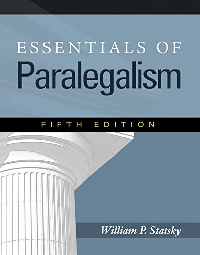 9781435427815: Essentials of Paralegalism