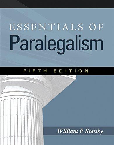 9781435427815: Essentials of Paralegalism