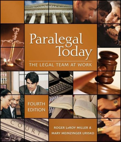 9781435438774: Paralegal Today: Legal Team at Work & Bankruptcy Supplement Package