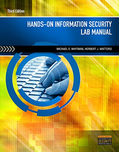 Hands-On Information Security Lab Manual: Michael E. Whitman,