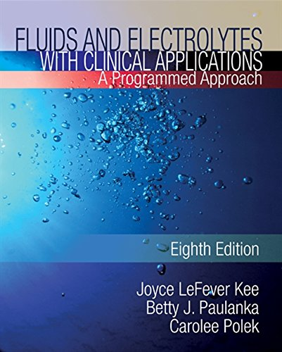 9781435453678: Fluids and Electrolytes with Clinical Applications