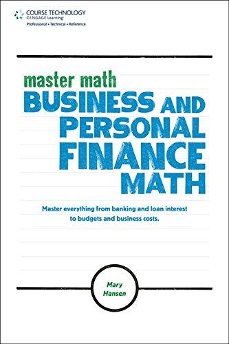9781435457881: Master Math: Business and Personal Finance Math