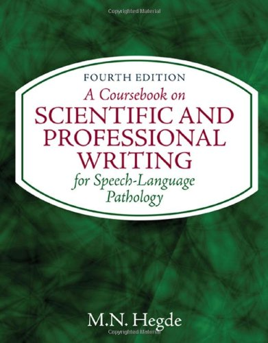 9781435469556: A Coursebook on Scientific and Professional Writing (Applied English)