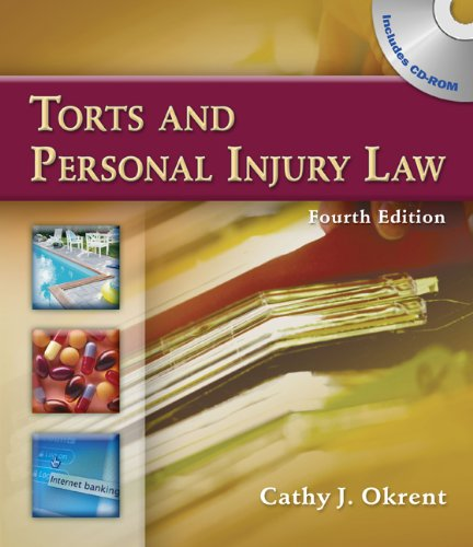 9781435477667: Bundle: Torts and Personal Injury Law, 4th + Paralegal Online Courses - Torts on Blackboard Printed Access Card