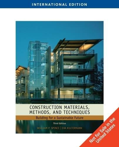 9781435487819: Construction Materials, Methods and Techniques