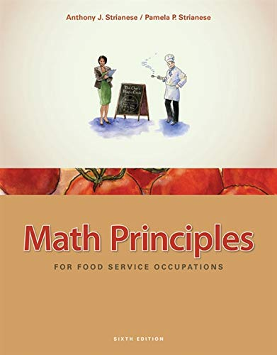 9781435488823: Math Principles for Food Service Occupations