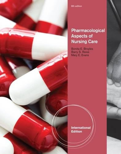 9781435489097: Pharmacological Aspects Of Nursing Care