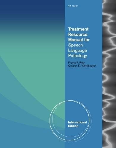 9781435496644: Treatment Resource Manual for Speech Language Pathology, International Edition