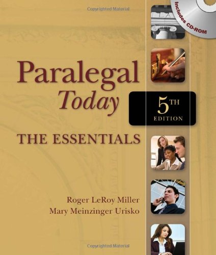 9781435498556: Paralegal Today: The Essentials