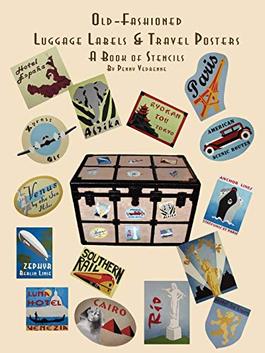 9781435703421: Old Fashioned Luggage Labels & Travel Posters: A Book of Stencils