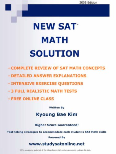 9781435705265: NEW SAT MATH SOLUTION
