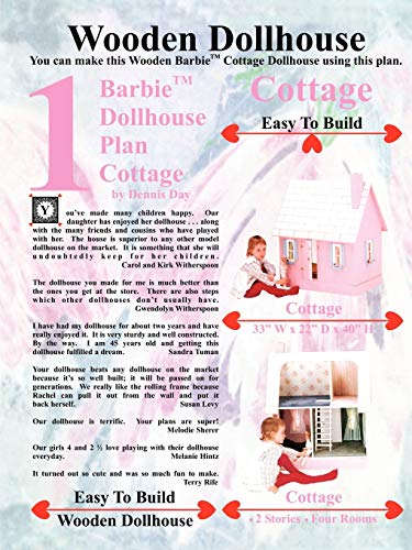 9781435714557: Barbie Dollhouse Plan Cottage