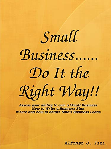 9781435715899: Small Business...Do it the Right Way!!
