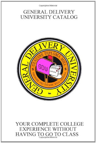 9781435734463: GENERAL DELIVERY UNIVERSITY CATALOG