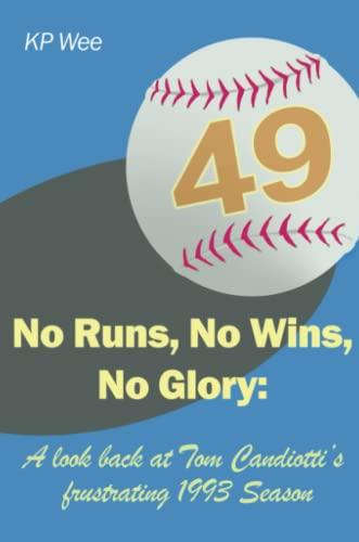 9781435742970: No Runs, No Wins, No Glory: A Look Back at Tom Candiotti's Frustrating 1993 Season