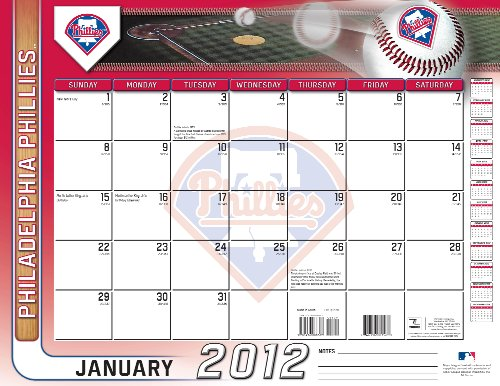 9781436088435: 2012 PHILADELPHIA PHILLIES 22X17 DESK CALENDAR